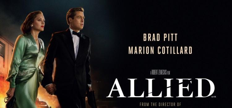Locandina del film Allied con Brad Pitt e Marion Cotillard