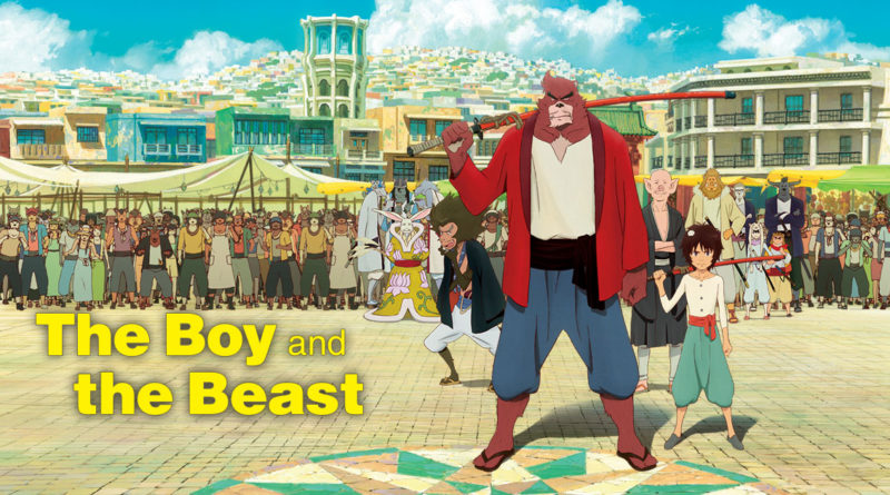 locandina del film giapponese the boy and the beast