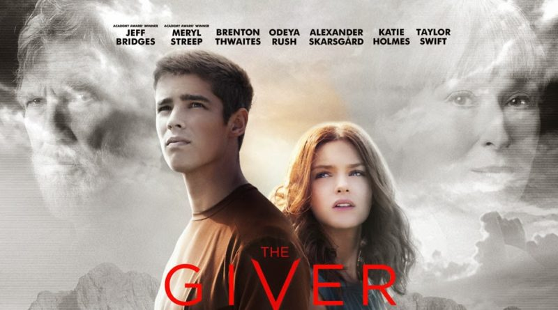 locandina del film the giver con brenton thwaites e taylor swift