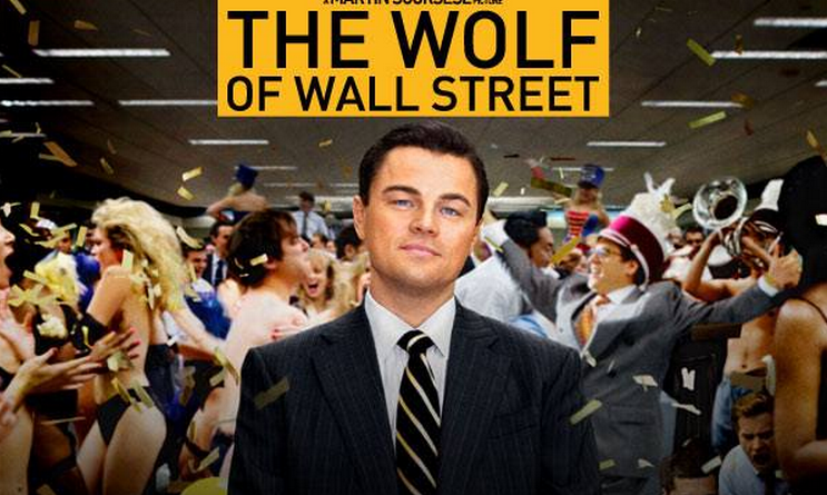 locandina del film the wolf of wall street leonardo di caprio